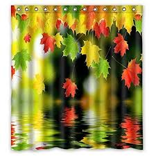 bathroom shower curtains autumn leaves home 180x180cm eco friendly waterproof fabric shower curtain shower curtains