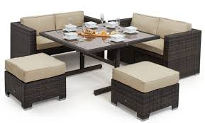 rattan cube dining table and chairs. maze rattan - sofa cube set dining table and chairs