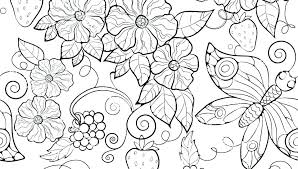 Printable Coloring Pages Of Flowers And Butterflies Flowers And Butterflies Coloring Pages Commoditytips Co