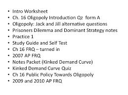 Intro Worksheet Ch. 16 Oligopoly Introduction Qz form A Oligopoly ...