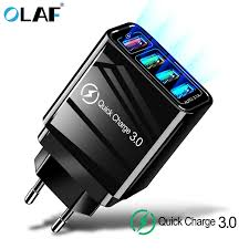 <b>Olaf</b> 4 USB <b>Charger Quick charge</b> 4.0 3.0 For Samsung A50 Xiaomi ...