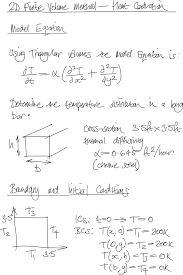 model equation initial conditions and boundary conditions