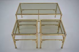 gold coffee table and side tables