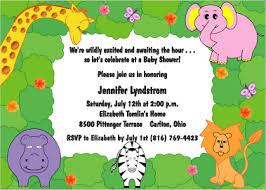Birthday Card Shower Invitation Wording Jungle Theme Baby Shower Invitation Wording Theruntime Com