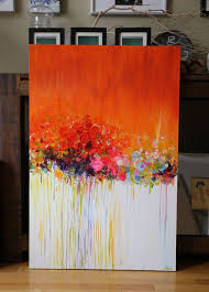 original abstract painting acrylic flower painting by artbyoak1 275 00