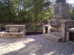 Lovely Paver Patio Designs With Fireplace F67X On Most Fabulous Home