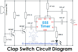 electronics mini project circuit diagram ireleast info clap switch circuit electronic project using 555 timer wiring circuit