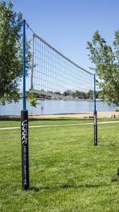 chair volleyball net. this volleyball net looks really solid! the padding on posts would be good for chair t