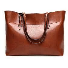 leather commute handbag shoulder satchel