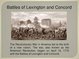 「1775, Battles of Lexington and Concord」の画像検索結果