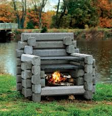 outdoor stone fireplace. The Deluxe 5 Logger Outdoor Stone Fireplace A