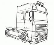 Kleurplaat Vrachtwagen Scania V8 Kleurplaat Vrachtwagen Scania