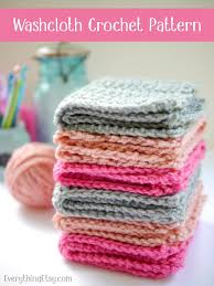 Free Crochet Patterns Enchanting Crochet Washcloth Pattern Free EverythingEtsy