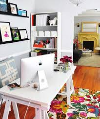 creating home office. Creating Home Office. Adorable Color Rug Mixed With Wonderful Black And White Office Furniture