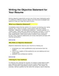 Accounting Objective Resume Accounting Resume Objective Statements Soaringeaglecasinous 18