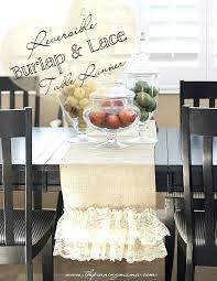 diy burlap table runners easy reversible burlap and lace table runner this is so pretty and