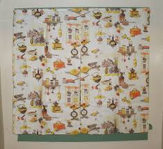 Yellow Gingham Kitchen Curtains Similiar Vintage Retro Kitchen Curtains Keywords