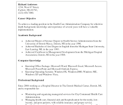 Healthcare Administration Resume Samples Health Care Administration Resumere Summary Objective Statement 29