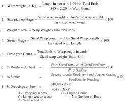 Weaving Calculation