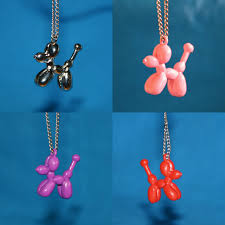 above balloon dog pendants by art with a twist available here