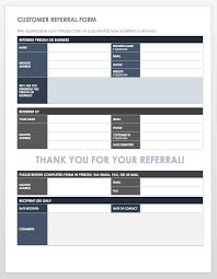 Referral Form Template Word 10 Free Referral Templates Smartsheet