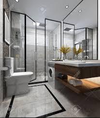 Modern Toilet Design 3d Rendering Luxury Modern Design Bathroom And Toilet