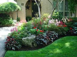 Small Picture Front entrance Curb appeal Heuchera geraniums Astilbe