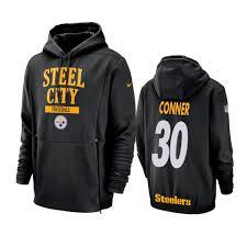 Steelers Hoodie Conner Lockup James Sideline Pittsburgh