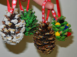 Pine Cone Christmas Decorations Worms Eye View How To Make Pine Cone Christmas Trees