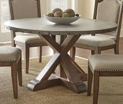 zinc top dining table fresh ideal exterior wall because emejing round pedestal dining table