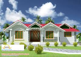 beautiful single floor house elevation plan home kerala style one design plans building