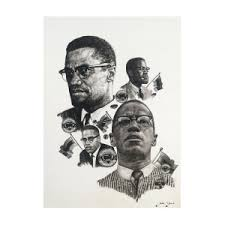Homage To Malcolm Drawing by Abdul Ahmad