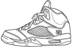 Jordans Shoes Coloring Pages Printable 2 Shoes Coloring Page In