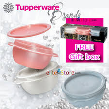 tupperware one touch bowl 3in1 gift set a must have previum set for collection bpa free air tight liquid tight limited edition