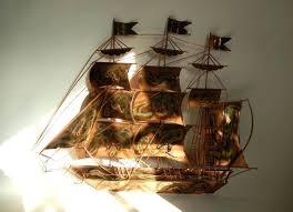 wall arts sailboat wall art sailing ship metal wall art sailing pertaining to