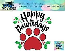 Do you have an animal lover in your world? Dog Christmas Svg Etsy