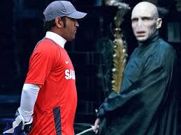exclusive ms dhoni and the chamber of secrets cricket country ms dhoni left and lord voldemort