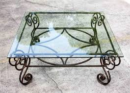 square glass top coffee table metal