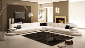 Modern leather sectional sofas Brown La Furniture Store 954 Contemporary White Italian Leather Sectional Sofa