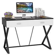 modern computer desk. Modren Modern Tribesigns Modern Computer Desk 47u0026quot Writing Desk Study Table With 2  Drawers For Home For C