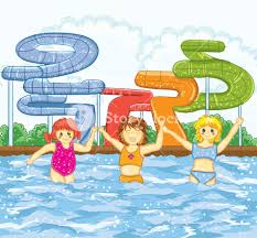 swimming pool vector. Kids Playing In The Swimming Pool Vector Illustration