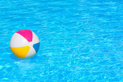 swimming pool beach ball background. Inflatable Ball In Swimming Pool. Colorful Floating The  Pool Royalty Free Beach Background C