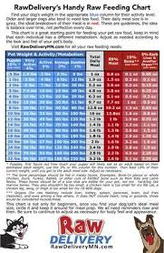 Activity Level Chart Raw Feeding Chart Find Your Dog Or Cats Weight And Activity