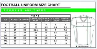 58 Abundant Youth Football Jersey Size Chart