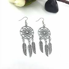 Who Sells Dream Catchers Impressive Dream Catcher Vintage Long Feather Tassel Drop Earrings Costume