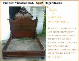My latest Craigslist treasure The fancy Victorian bed saga – Pt 2