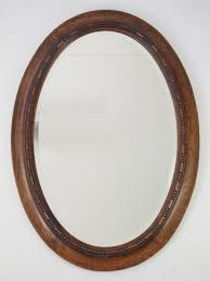oval mirror frame. Edwardian Oak Framed Oval Mirror C.1910 Frame