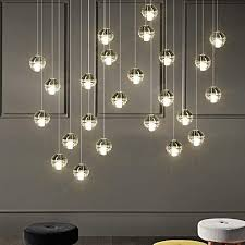 staircase chandelier led ceiling lamp