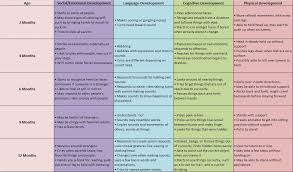 developmental milestones chart p1 unit 4 describe physical intellectual emotional and social