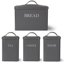 Garden Trading Kitchen Bin Garden Trading Bread Bin And Tea Coffee Sugar Canister Charcoal
